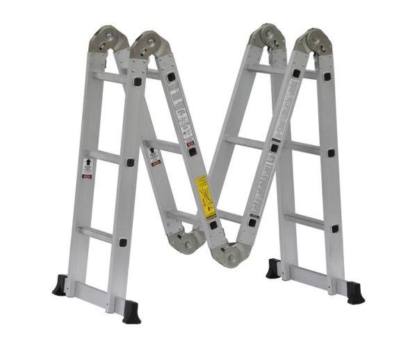 ✅ Escalera Multifunciones de Aluminio de 13 pies de altura y capacidad de carga hasta 150 kg máx. T-IA
