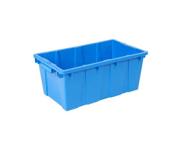 ✅ Caja de tipo industrial estilo cañada de polietileno de alta densidad, con capacidad de 10 kilogramos, apilable  y anidable