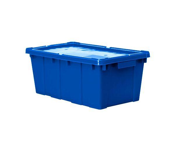 ✅ Caja de tipo industrial estilo cañada de polietileno de alta densidad, con capacidad de 10 kilogramos con tapa apilable  y anidable