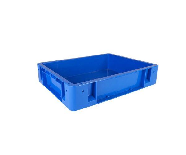 ✅ Caja de plástico de tipo industrial  apilable  con capacidad de 20 kilogramos, # 2