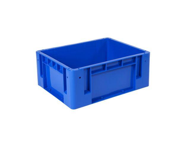 ✅ Caja de plástico de tipo industrial  apilable  con capacidad de 25 kilogramos, # 3