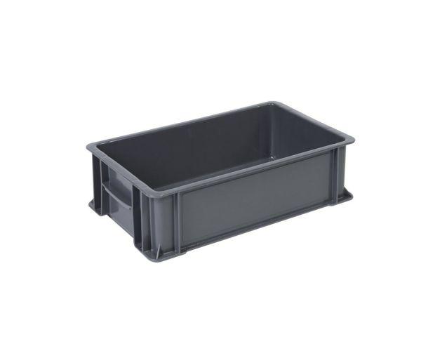 ✅ Caja de plástico de tipo industrial  apilable  con capacidad de 30 kilógramos #1