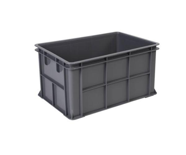 ✅ Caja de plástico de tipo industrial  con capacidad de 15 kilogramos con tapa
