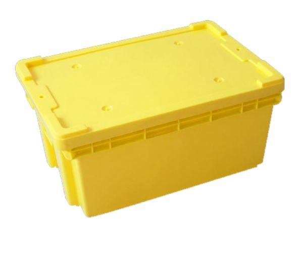 ✅ Caja de tipo industrial con estilo Toronto de polietileno con capacidad de 35 kilogramos con tapa