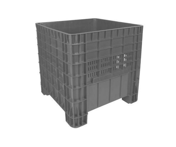✅ Contenedor de plástico de tipo industrial  con tapa, capacidad de 250 kilogramos apilable