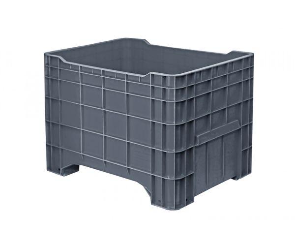 ✅ Contenedor mediano de tipo industrial de polietileno sin tapa, capacidad de 250 kilogramos apilable