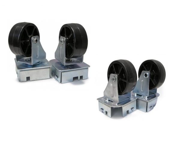✅ Ruedas giratorias de tipo industrial, de aluminio, dos piezas