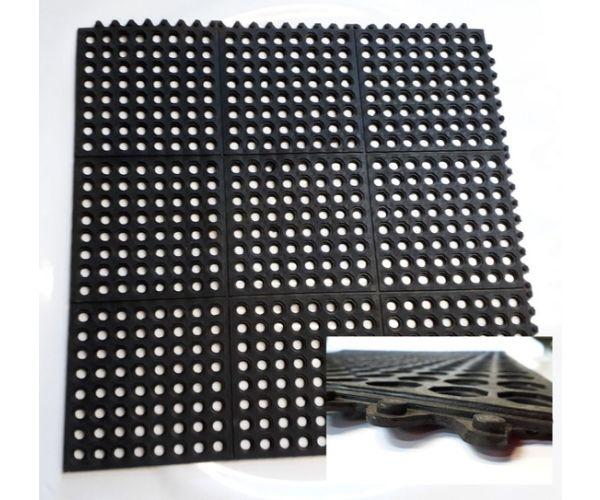 ✅ Piso higiénico rígido de tipo industrial, con capacidad de 150 kilogramos de presión 30x30cm