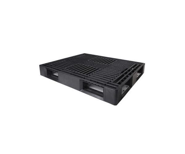 Tarima de tipo industrial de plástico, con capacidad de 1500 kilogramos 124x103.3cm