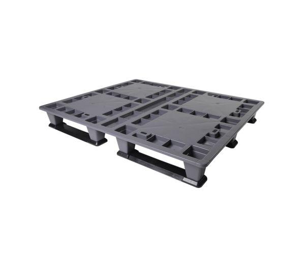 ✅ Tarima de plástico de tipo industrial  con capacidad de 1000 y 500 kilogramos, apilable 120x100cm