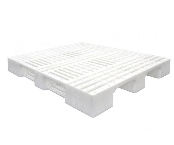 ✅ Tarima de plástico de tipo industrial  con capacidad de 1250 y 900 kilogramos, apilable 120x120cm