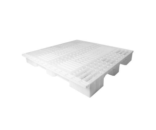 Tarima de plástico de tipo industrial  con capacidad de 1250 y 900 kilogramos, apilable 130x120cm
