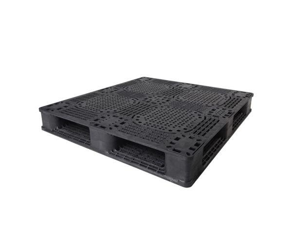 Tarima de plástico de tipo industrial  con capacidad de 1200 kilogramos 120x80cm reciclado