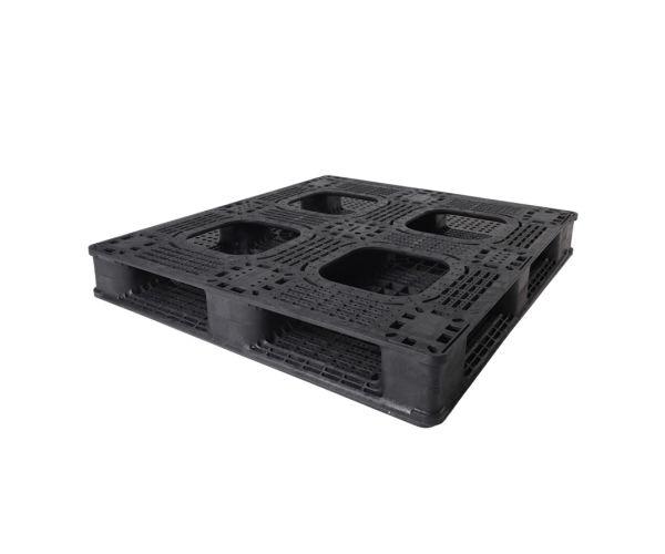 ✅ Tarima de tipo industrial de polietileno con capacidad de 1250 kilogramos 120x100cm reciclado