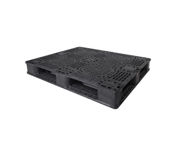 ✅ Tarima de tipo industrial de polietileno con capacidad de 1300 kilogramos 130x110cm reciclado