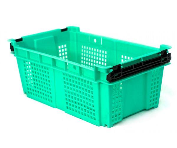 ✅ Caja de tipo agrícola  de plástico con asas con capacidad de 10 kilogramos 48x29cm