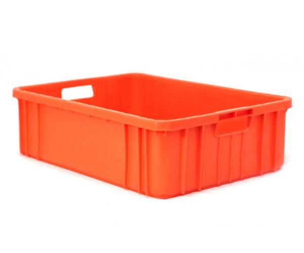 Caja de tipo agrícola multiprocesos de plástico con capacidad de 15 kilógramos y apilable