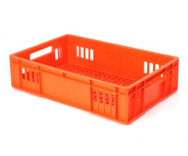 ✅ Caja de tipo agrícola rectangular de plástico con capacidad de 10 kilogramos, calada y apilable