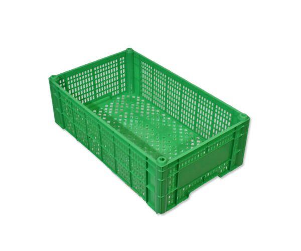 ✅ Caja de tipo agrícola de plástico con capacidad de 10 kilogramos y apilable