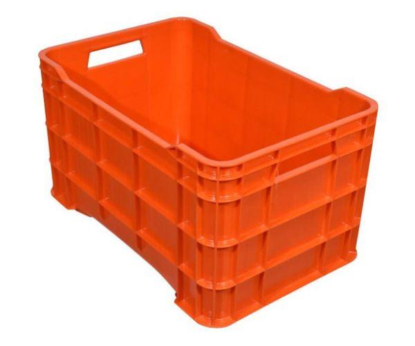 ✅ Caja de tipo agrícola calada de plástico con capacidad de 60 kilogramos y apilable
