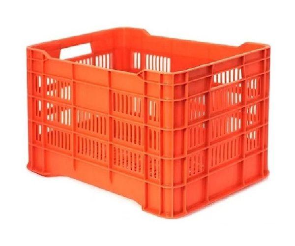 ✅ Caja de tipo agrícola calada ligera de plástico con capacidad de 25 kilogramos, 505x33cm apilable
