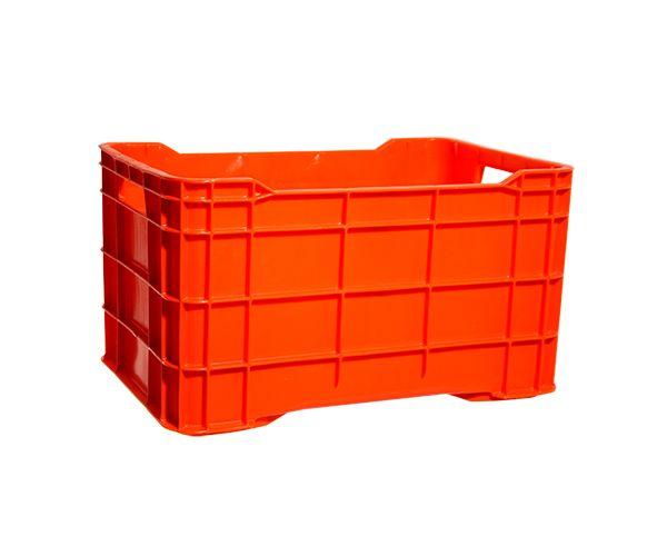 ✅ Caja de tipo agrícola cerrada de plástico con capacidad de 30 kilogramos y apilable