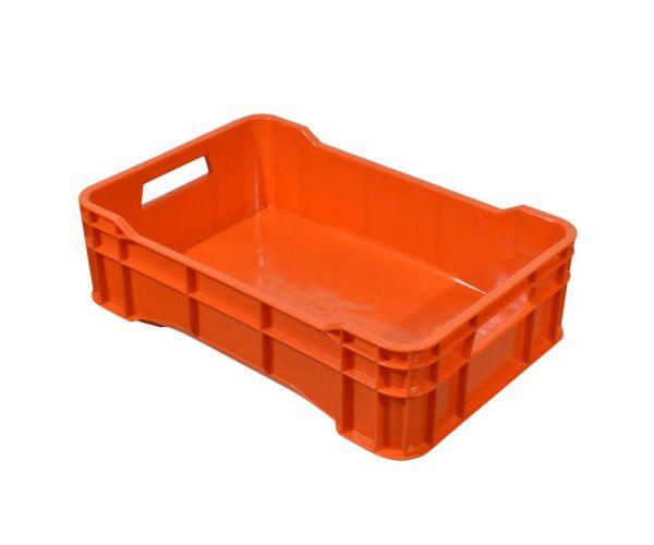 ✅ Caja de tipo agrícola cerrada de plástico con capacidad de 15 kilogramos y apilable