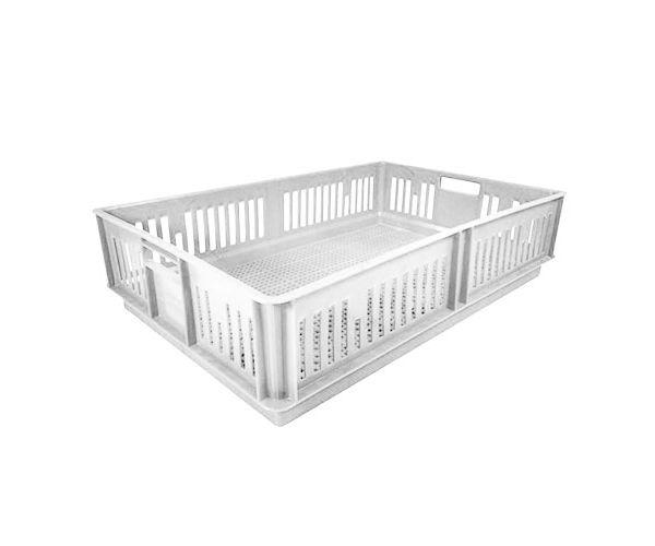 ✅ Caja de tipo pollera calada sin divisiones de plástico con capacidad de 17 kilogramos 63x42cm