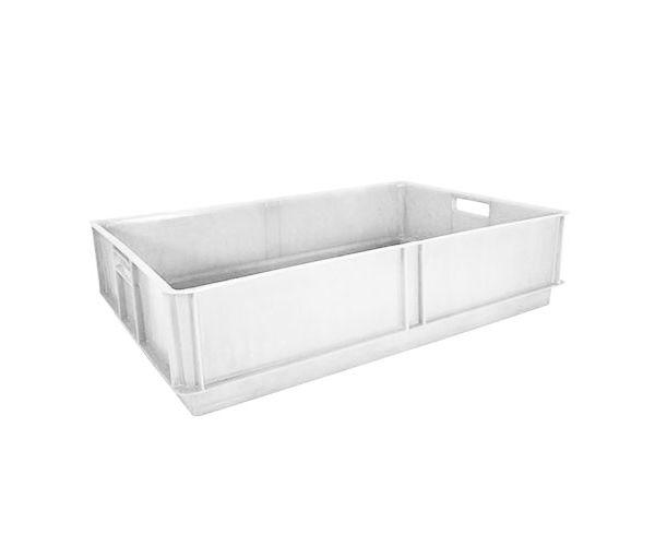 ✅ Caja de tipo pollera sin divisiones cerrada de plástico con capacidad de 17 kilogramos 63x42cm