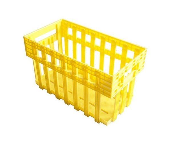 Caja estilo Tehuacán para huevos de plástico con capacidad de hasta 360 huevos, 25 kilogramos o 12 charolas
