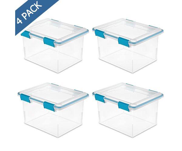 ✅ Sterilite cajón individual de plástico transparente