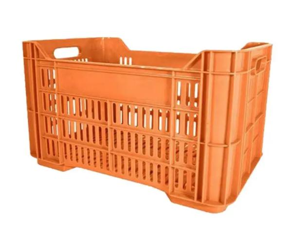 ✅ Caja de tipo agrícola estilo Andrea con plástico reciclado de polietileno con capacidad de 30 kilogramos y medidas de 52.5x34cm