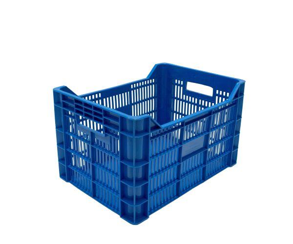 ✅ Caja de tipo agrícola estilo bananera con plástico reciclado de polietileno con capacidad de 30 kilogramos y medidas de 50x35cm