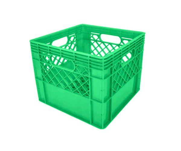 ✅ Caja de tipo agrícola estilo lechera con plástico reciclado de polietileno con capacidad de 20 kilogramos/ 16 litros y medidas de 34x34cm
