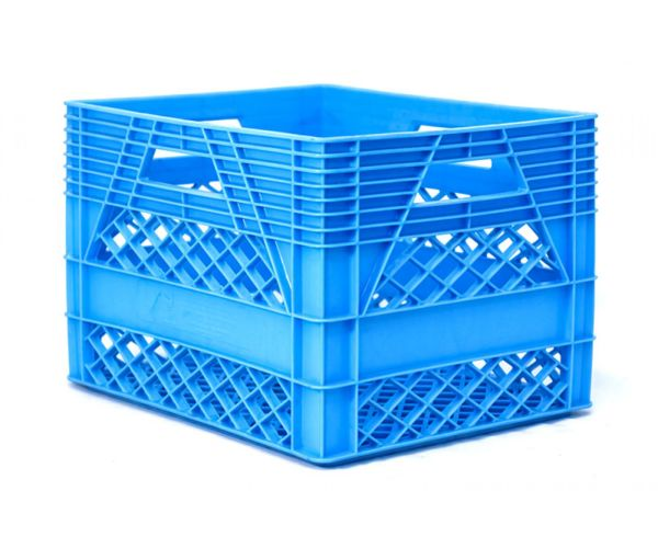 ✅ Caja de tipo agrícola estilo lechera con plástico reciclado de polietileno con capacidad de 25 kilogramos/ 20 litros y medidas de 44x33cm