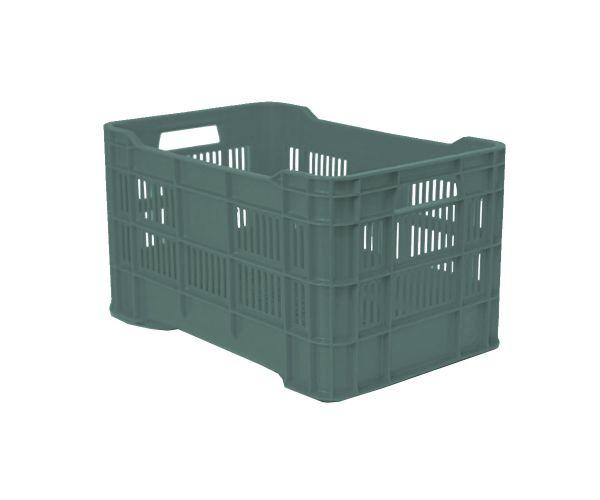 ✅ Caja de tipo agrícola estilo walterino ligera calada de polietileno con capacidad de 25 kilogramos, apilable y con medidas de 50.5x33cm. Reciclado