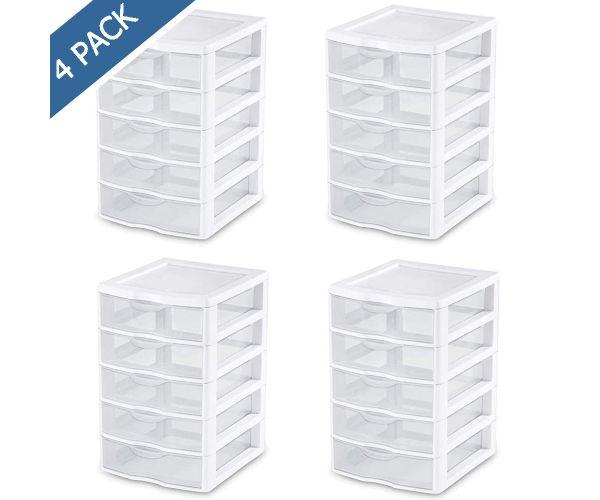 ✅ Cajón individual mediano alto, cajón de plástico Sterilite