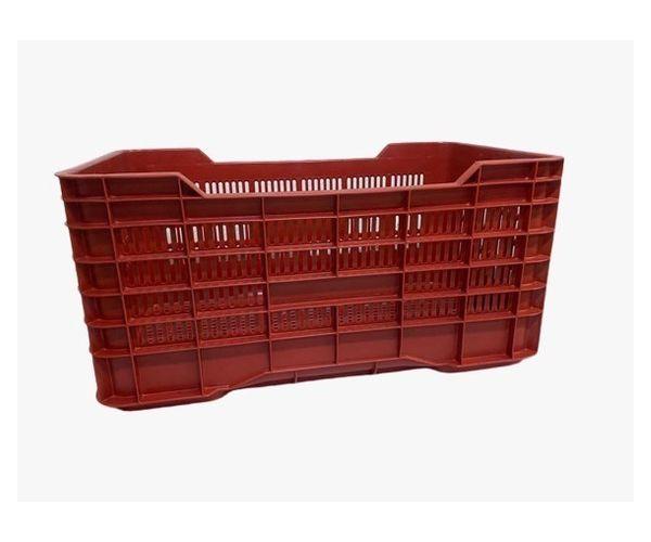 ✅ Caja de tipo agrícola con plástico reciclado, carrada de polietileno con capacidad de 70 kilogramos, apilable y medidas de 73x42cm