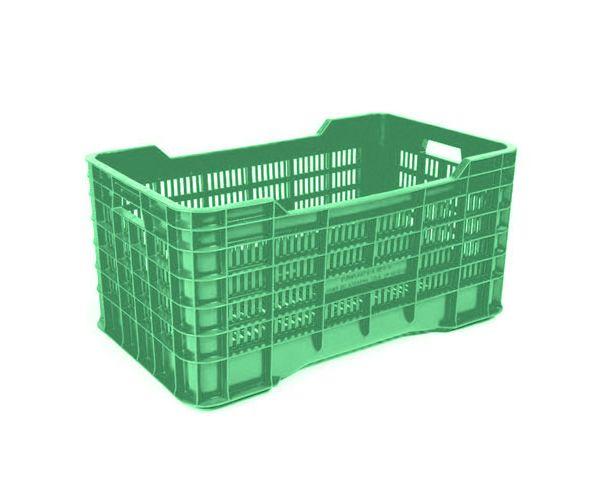 ✅ Caja de tipo agrícola gigante con plástico reciclado de polietileno con capacidad de 70 kilogramos y medidas de 73x42cm