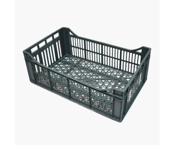 ✅ Caja de tipo industrial multi usos con plástico reciclada de polietileno con capacidad de 10 kilogramos, apilable con medidas de 51x31cm