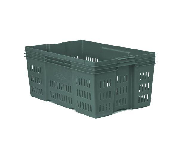 ✅ Caja de tipo industrial de estilo Montreal con plástico reciclado de polietileno con capacidad de 30 kilogramos y medidas de 60x40cm