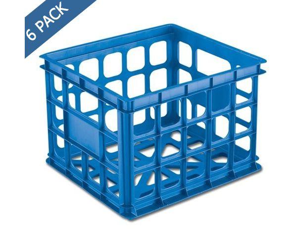 ✅ Caja contenedor para almacén 15 x 13 x 10 pulgadas azul acuario