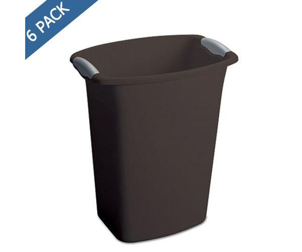 ✅ Cesto papelero rectangular de plástico Sterilite 12 QT / 11.35 litros