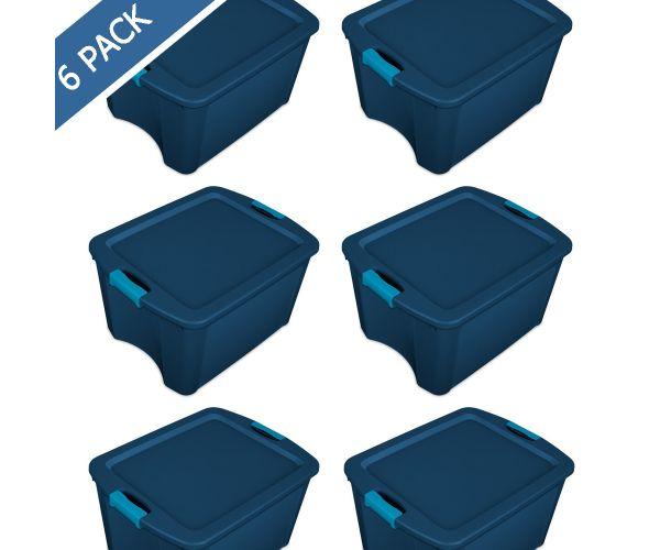 Bote redondo con tapa para basura Sterilite, cesto papelero redondo swing-top  10.5 gal / 40 litros