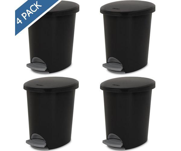 ✅ Bote con pedal para basura Sterilite, cesto papelero step-on 2.6 gal / 9.8 litros