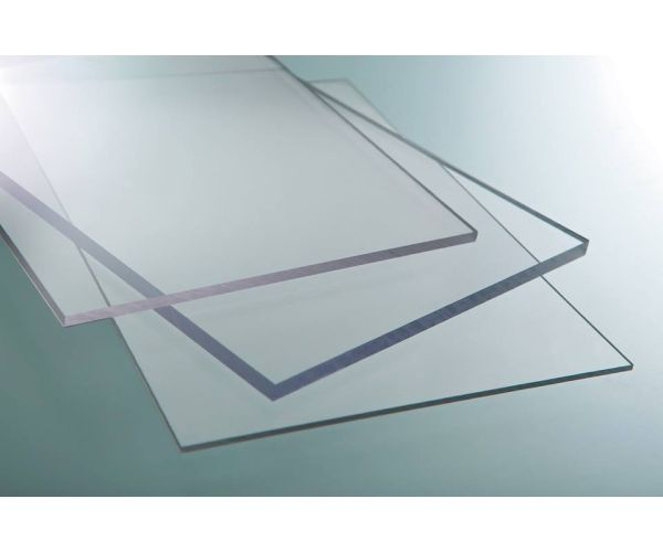 ✅ Lámina de Policarbonato Solido transparente de 3 mm  1.22  X 2.44 mt