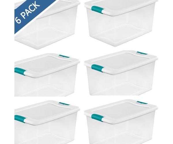 ✅ Caja de plástico transparente con tapa 61 litros