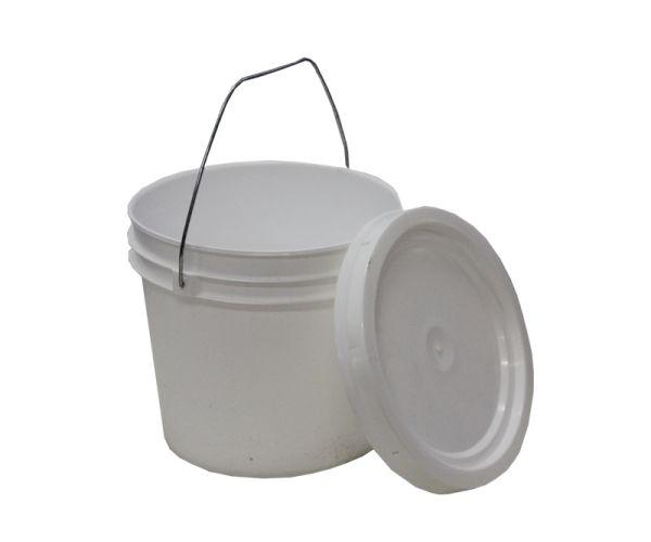 ✅ Cubeta de plástico 4 litros de 1ra con tapa lisa