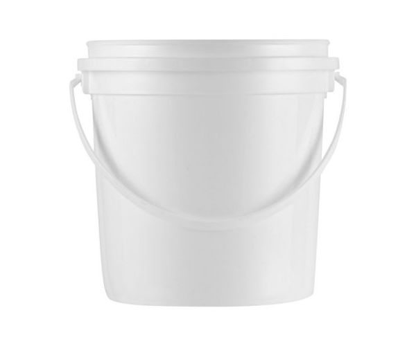 ✅ Cubeta de plástico 4 litros reciclada con tapa lisa con asa de plástico
