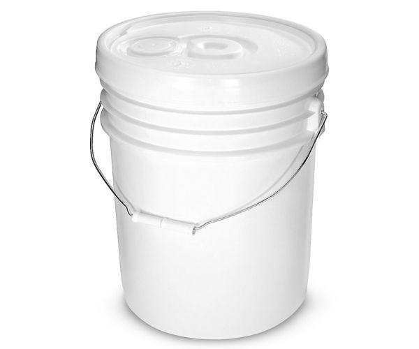 ✅ Cubeta de plástico 5 litros de 1ra con tapa lisa